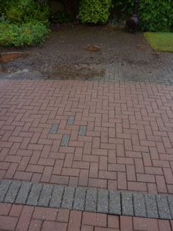 Patio and driveway pressure cleaning